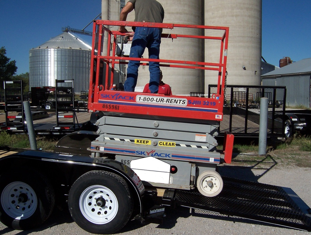 Scissor Lift Trailer : Scissor lift trailer ta neels outlet